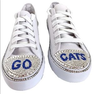 University of Kentucky Blinged Out Sneakers